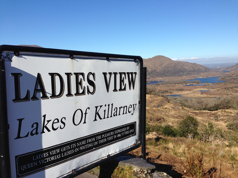 Ladies View - View over Lakes of Killarney