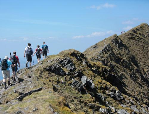 Walking on Caher Ridge McGillycuddy's Reeks